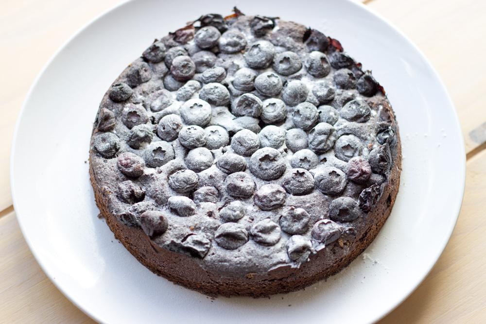Recept Chocolade blauwe bessen taart