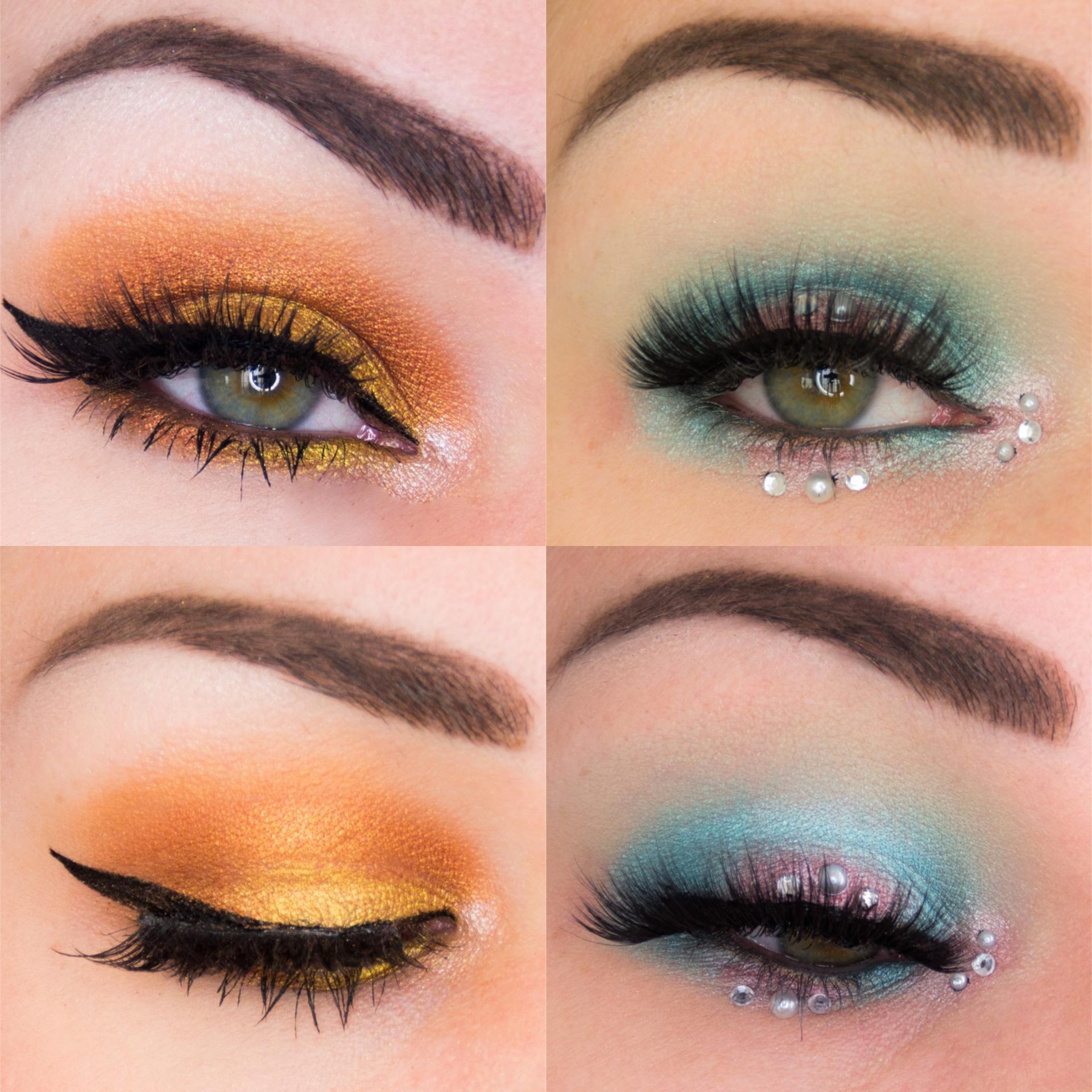 Eye looks // Golden hour & Mermaid look