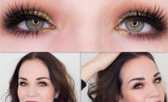 Look Favorite lashes and Rose gold eyeshadow