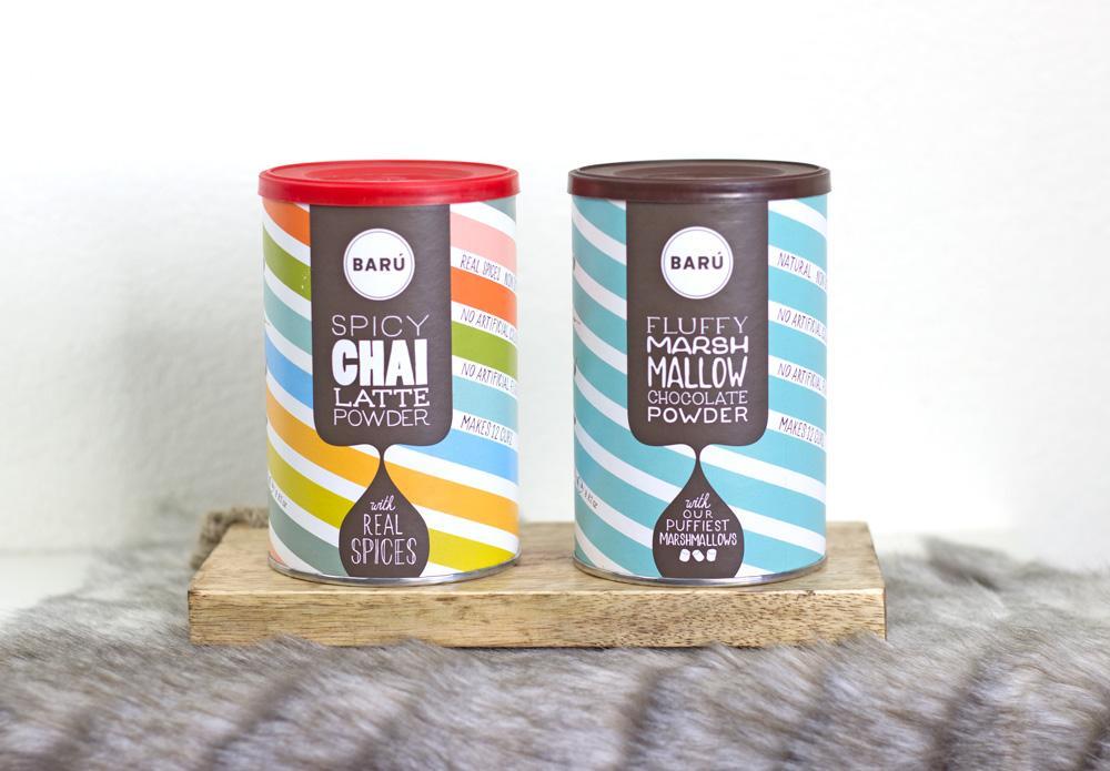 Barú Spicy Chai latte en Fluffy Marshmallow Chocolate