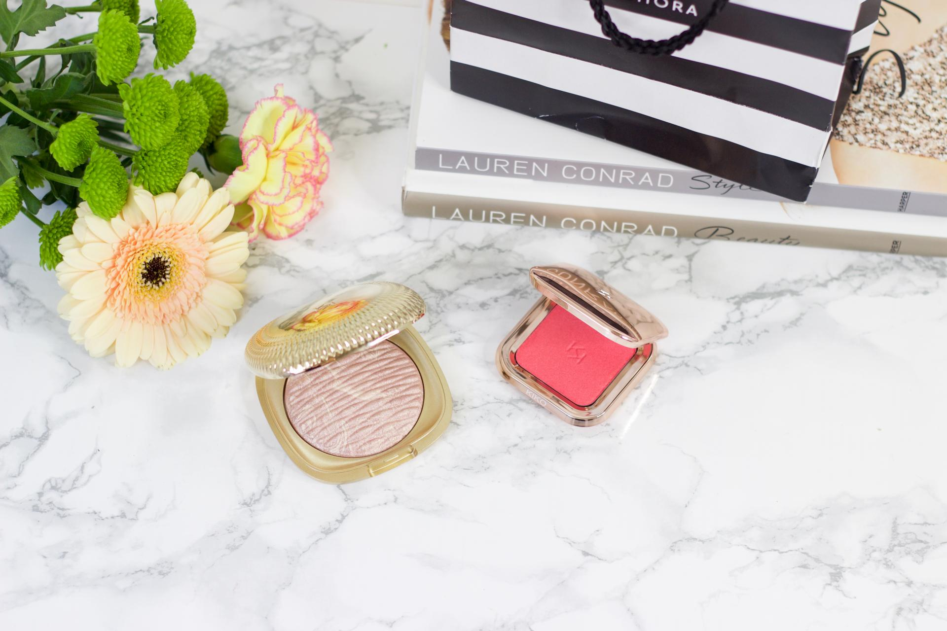 Kiko Gold waves highlighter & Metal Fusion blush