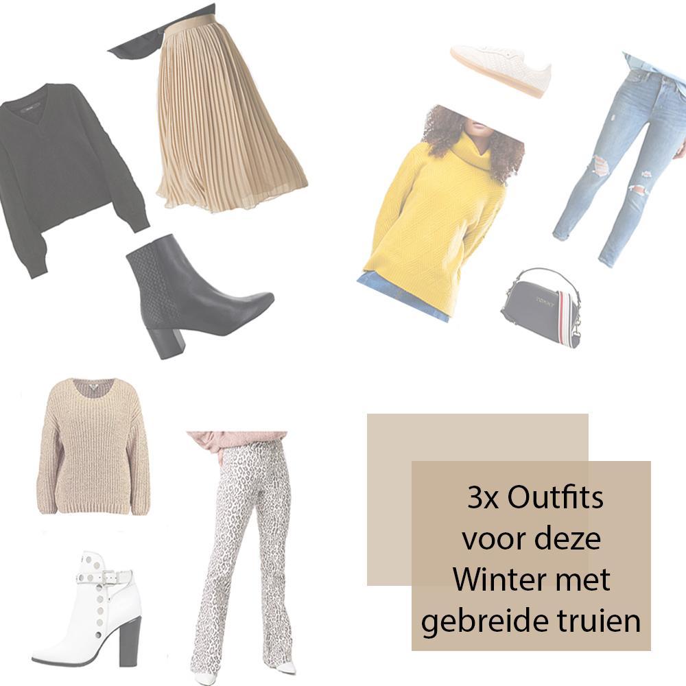 Outfits voor deze winter met gebreide truien
